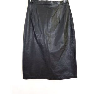 Vintage Size 6 Leather High Waisted Skirt
